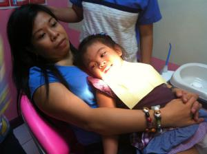 Mriska's 2nd Dentist Visit with mommy on the dental chair